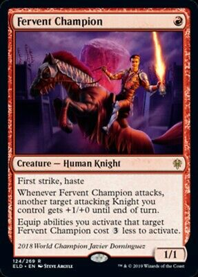 Foil Fervent Champion Throne of Eldraine Magic MTG