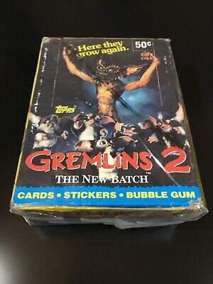Gremlins 2 The New Batch x36 Unopened Packs 1990 Trading Cards Topps USA