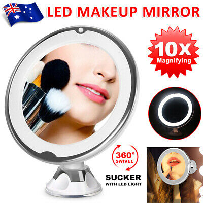 10x Magnifying Makeup Mirror Vanity Cosmetic Beauty Bathroom LED Lights up AU