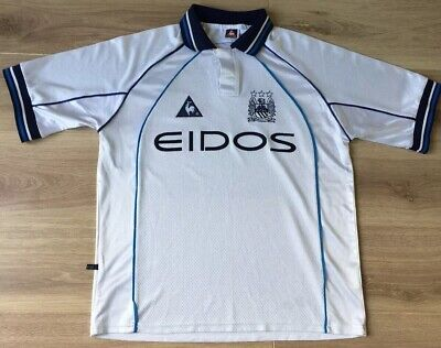 Manchester City Shirt Away Kit 1999-2000 Le Coq Sportif. Large 42/44. Repaired