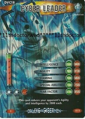 Dr Doctor Who BATTLES IN TIME Daleks Vs Cybermen DVC18 Rare CYBER LEADER Card