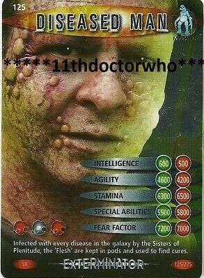 Dr Doctor Who BATTLES IN TIME Exterminator SUPER RARE CARD 125 DISEASED MAN