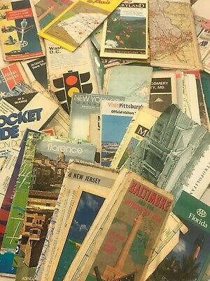 lot of 55 vintage road maps Dc Maryland London Fl NJ Florence NC PA AAA
