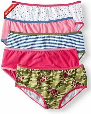 Wonder Nation Girls Youth 5 Pack of Underwear - Girls Hipster