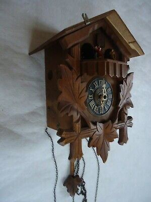 Vintage Black Forest Musical Cuckoo Wall Clock. Spares Or Repair