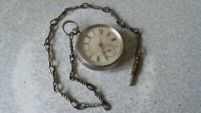 Antique Sterling Silver Pocket Watch - Pair Cased-1897 - A.h Drinkwater-Coventry