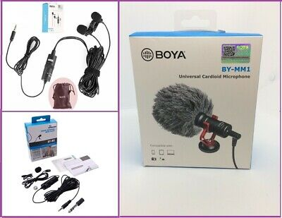 BOYA BY-M1 3.5 mm-Professional lavalier lapel Microphone-for Smartphone and DSLR