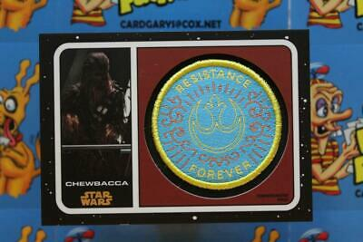 2019 Journey To Star Wars The Rise Of Skywalker Patch Card Pc-Cr Chewbacca