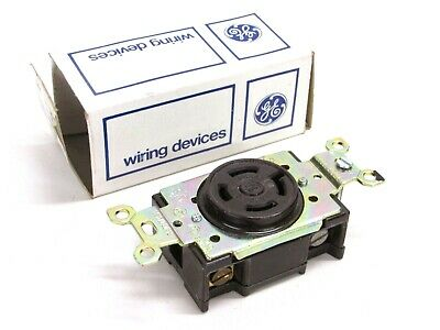 Nos! Ge Electric 20A 4-Pole 4-Wire Single Outlet Locking Receptacle #Gl 1820