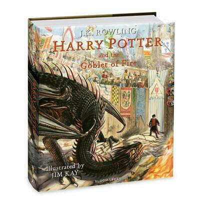 Harry Potter and the Goblet of Fire: Illustrated Edition by J.K. Rowling Hardcov