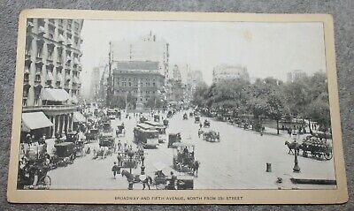 Antique 1903 Singer Sewing Machine Card Broadway And Fifth Ave New York