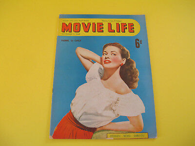 Yvonne de Carlo on Front Cover 1949 Movie Life Magazine