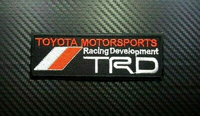 TRD TOYOTA RACING SPORTS RACING CAR MOTOR CAP Embroidered Patch Iron On Sew Logo