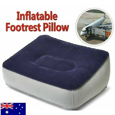 New Inflatable Foot Rest Travel Air Pillow Cushion Home Leg Up Footrest Relax AU