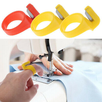 Accessory Craft DIY  Thread Cutter Plastic Thimble Finger Blade Sewing Ring