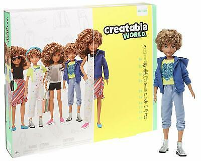 Creatable World Deluxe Character Kit Customizable Doll, Blonde Curly Hair- NEW