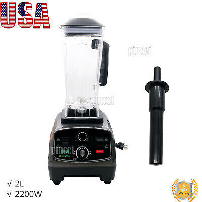 2L Heavy Duty Commercial Blender with Timer 2200W BPA-Free Fruit Juicer USA