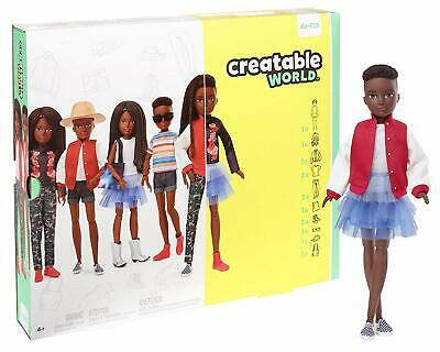 Creatable World Deluxe Character Kit Customizable Doll, Black Braided Hair- NEW