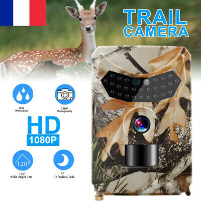 12MP 1080P Trail Caméra de chasse PIR IR Wildlife Scouting Cam Vision Nocturne