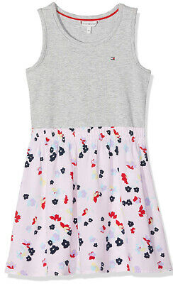 Tommy Hilfiger pink and grey flower dress for girls 3 years or 98cm BNWT