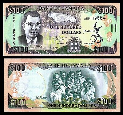 Jamaica 2 Note Set pNew//p95d Polymer UNC 01.06.2017 50 and 100 Dollars