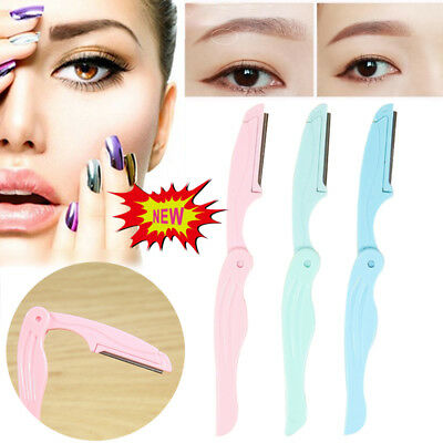 3Pack Eyebrow Brow Shaper Razor Blade Facial Hair Trimmer Remover Dermaplaning N