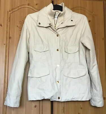 NEXT Warm Cream Thick Jacket Coat Sz 10 Elasticated Bottom & Cuffs Inside Winter