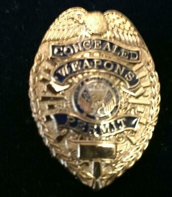 CCW Concealed Weapons Permit Badge mini Lapel or Hat Tac
