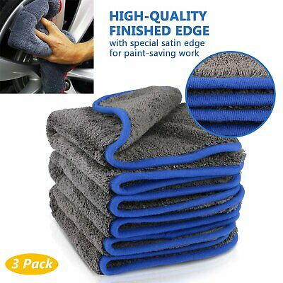 NEW Car Cleaning Towel Washing Cloth Rag Dry Microfiber Ultra Absorbent Soft UK