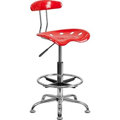 Flash Furniture Red Drafting Stool, Red - LF-215-RED-GG