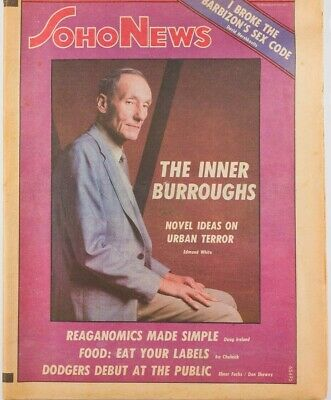 WILLIAM BURROUGHS Robert Mapplethorpe ALLEN GINSBERG Beat SOHO NEWS magazine NYC