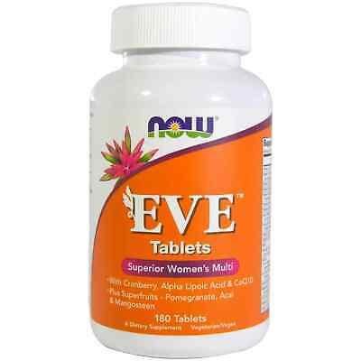 NOW FOODS Eve Superior Women's Multi 180 Tablets FREE WORLDWIDE SHIPPING