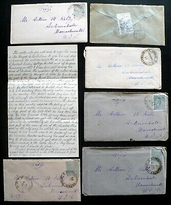 6 Letters from an Armenian Man, Aintab Turkey to USA, 1894-96