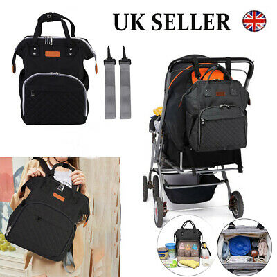 Baby Diaper Changing Bag Mummy Backpack Nappy Tote Large Hospital Rucksack UK
