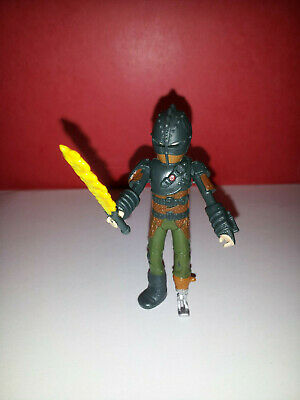How to Train Your Dragon HICCUP Brown Armor Action Figure with SWORD