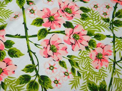 "NOS Vintage WILENDURE Cotton TABLECLOTH  WILDROSE 52"" x 70"" Pink Floral NEW"