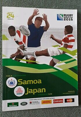 SAMOA v JAPAN RUGBY WORLD CUP 2015 OFFICIAL PROGRAMME 3 Oct Milton Keynes