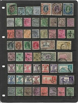 Old British Empire India Queen Victoria-George Vi  All Different Used Collection