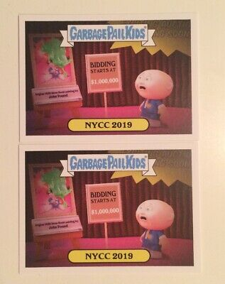NYCC 2019 Topps Garbage Pail Kids Promo Trading Card Collectible Pair