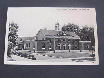 Peach County Court House Fort Valley Ga US Postcard