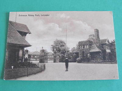 Entrance to Abbey Park Leicester UK Postcard