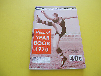 D K Phillis South Australian Football Record Year Book 1970  160 pages