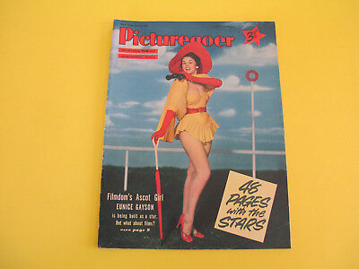 Eunice Gayson on Front Cover 1955 Picturegoer Magazine Spandles Advertisement