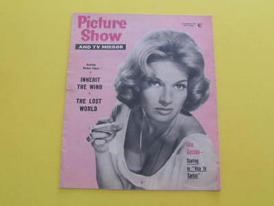 Lisa Gastoni on Front Cover 1960 Picture Show & TV Mirror Magazine