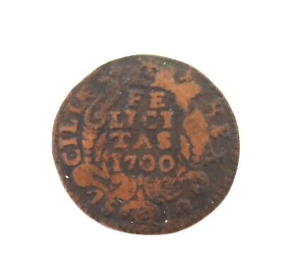 1700 Charles Ii Spain. Naples Mint Felicitas.