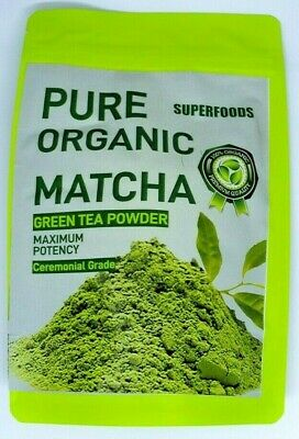 Matcha Tea Japanese Organic Ceremonial Grade 100gm, includes free serving spoon