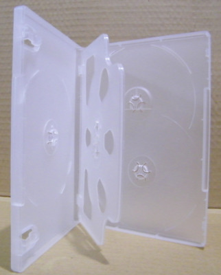 DVD Case 5 capacity Clear 14mm HOLDS 5 Discs Quality CD / DVD Cover Cases