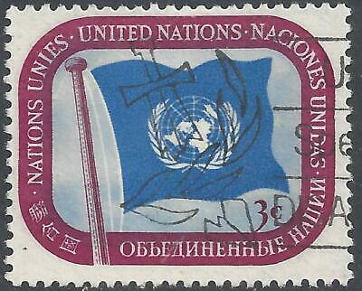 1951 3c United Nations Definitive Postage Stamp used