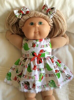 "DOLL  CLOTHES  TO Fit  CABBAGE  PATCH  16"" DOLLS ~ Christmas  Greet Owls & Birds"
