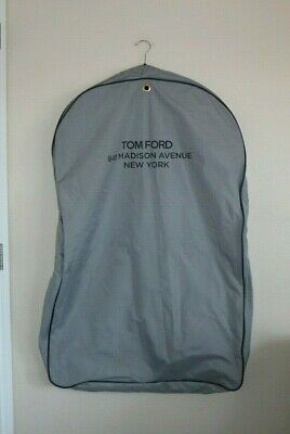 TOM FORD Gray Garment Suit Travel Hanging Bag Heavy Duty